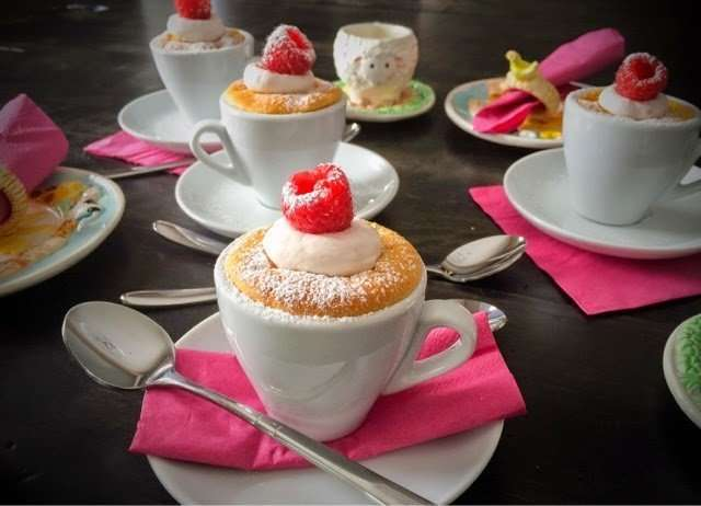Warm Raspberry Honey Tea Cup Cupcakes