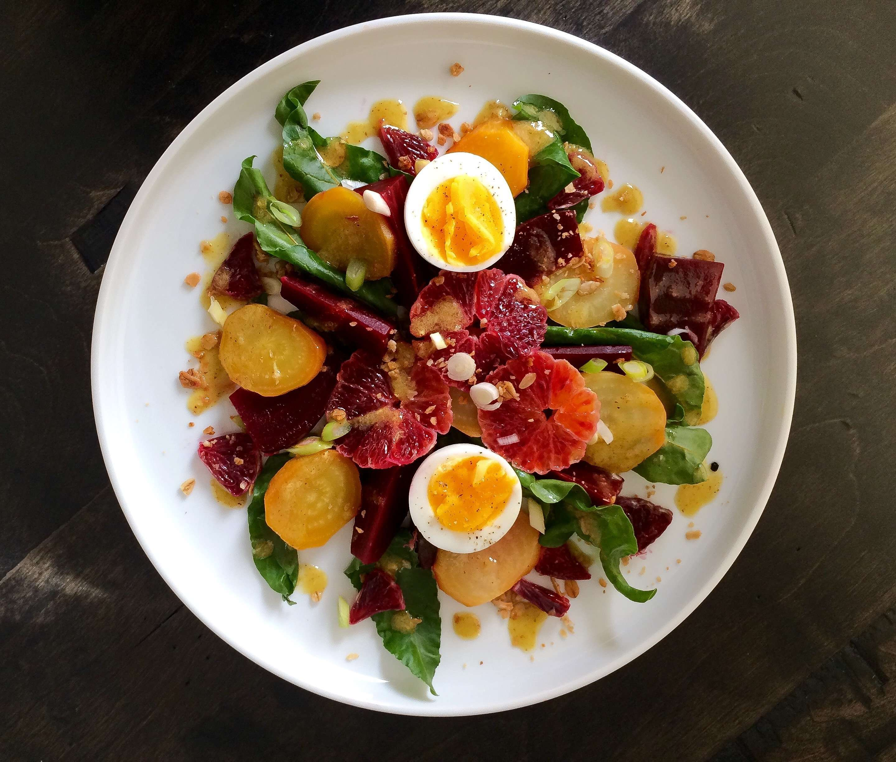 Roasted Beet and Blood Orange Salad with a White Balsamic Vinaigrette