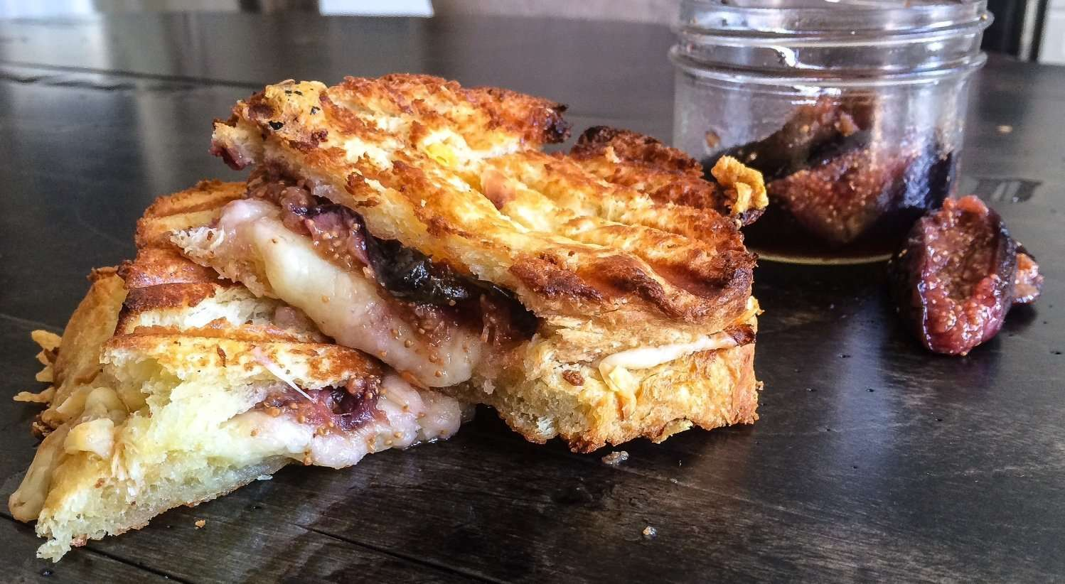 Sweet Bread Grilled Cheese with Aged Cheddar & Brandied Figs