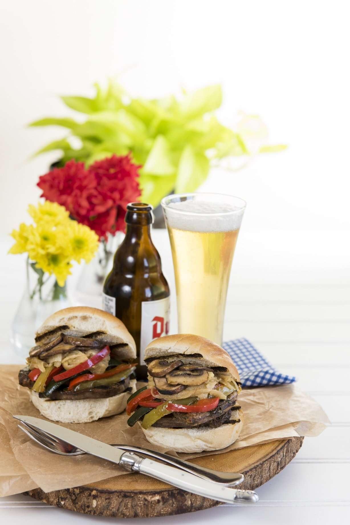 Grilled Antipasto Platter + Marinated Steak Sliders + Potato salad /w Bacon & Grainy Mustard