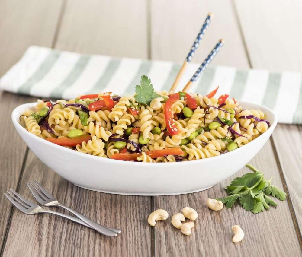 Asian Sesame Fusilli Pasta Salad www.dailytiramisu.com