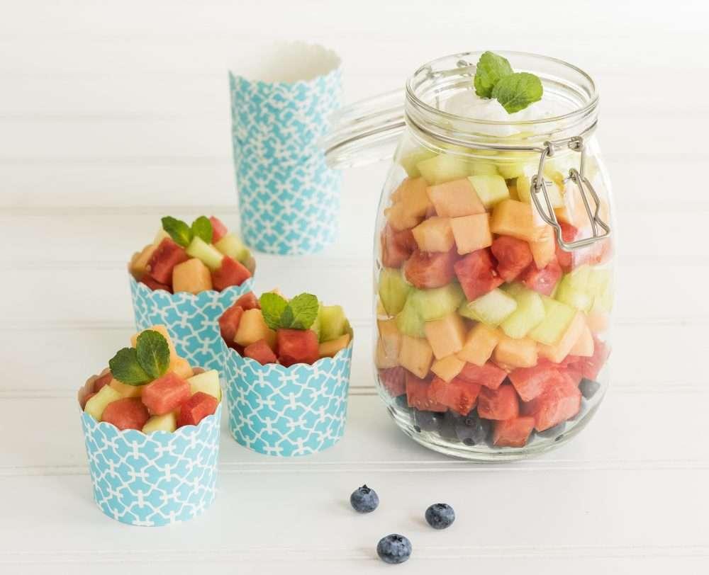 Summer Melon Salad /w Lemon, Mint & Honey www.dailytiramisu.com