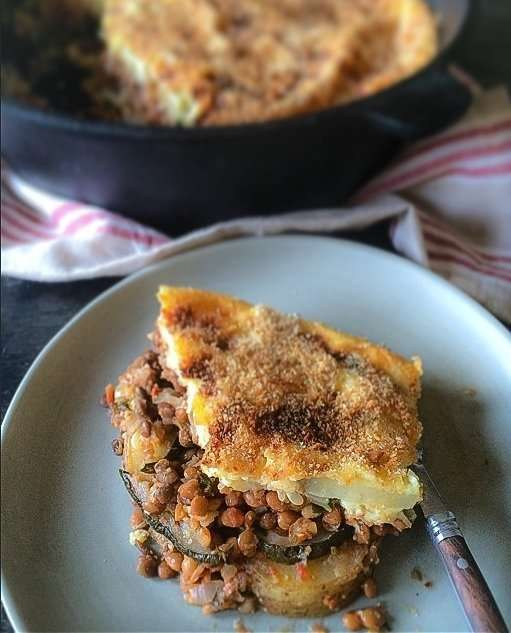 Farm to Table: Transition from Summer to Fall with Skillet Vegetarian Moussaka