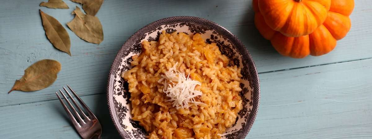 20 Minute No-Stir Pumpkin & Bacon Risotto