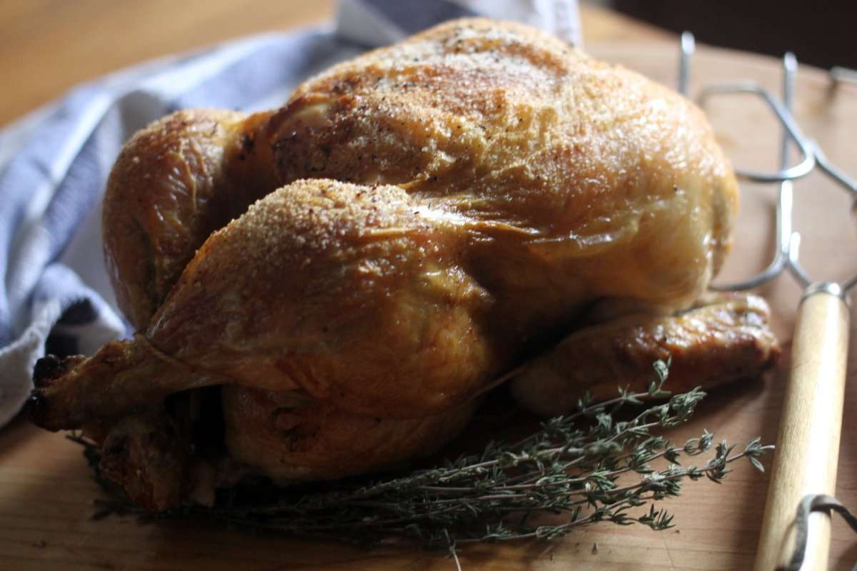 3-Step Easiest Whole Roasted Chicken + Video