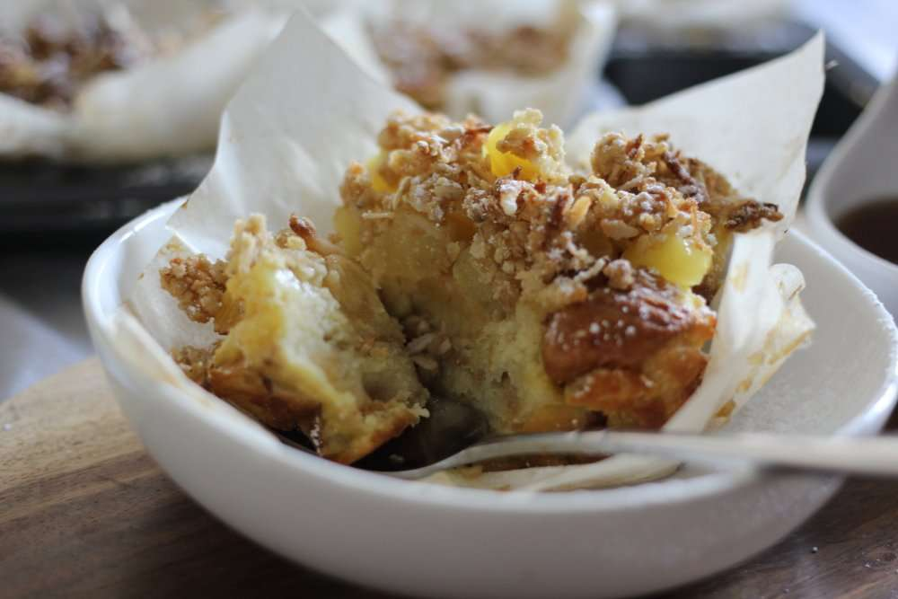 Coconut Crumble French Toast Soufflés
