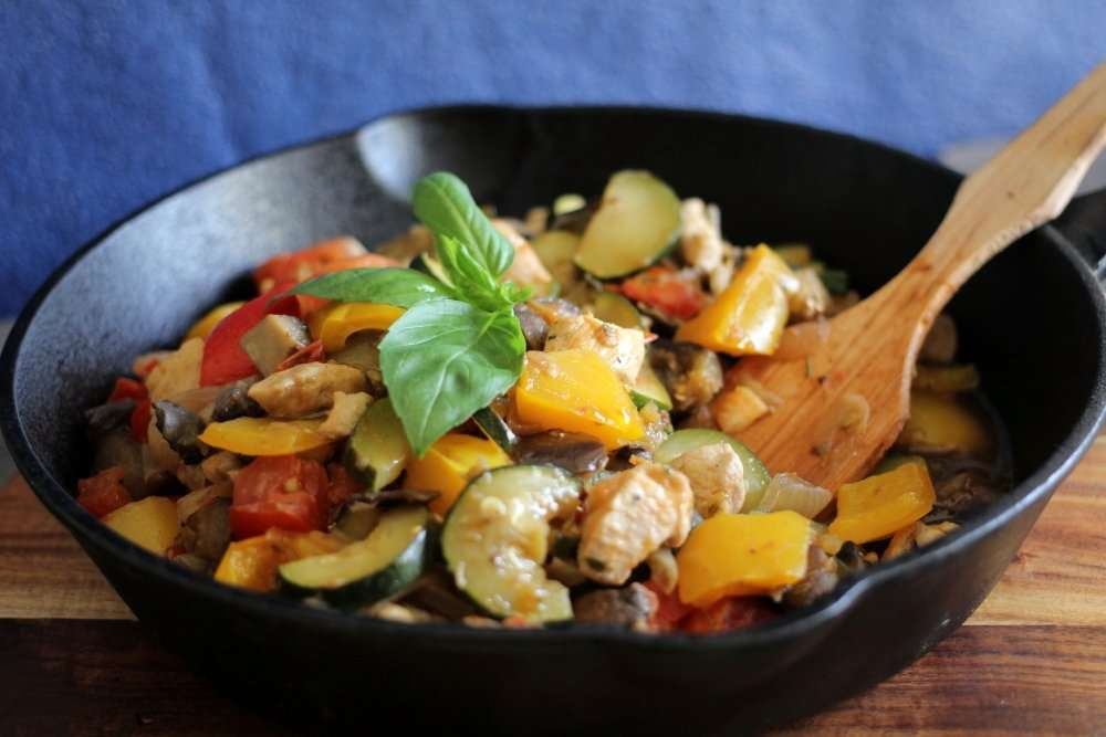 Harvest Skillet Chicken Ratatouille