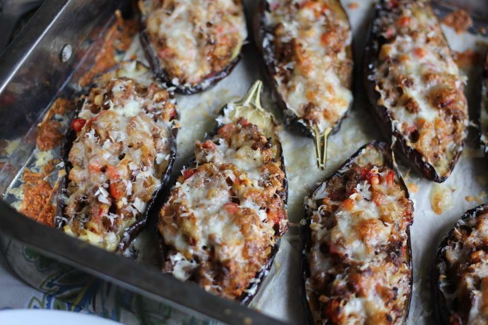 Easy Stuffed Eggplants