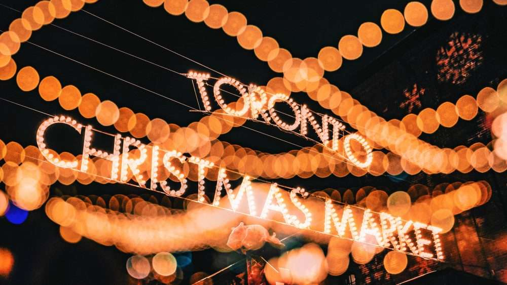Julie Miguel Food and Travel blogger of www.dailytiramisu.com visits the Toronto Christmas Market