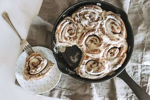 Jules' Softest & Fluffiest Buttermilk Cinnamon Buns with Cream Cheese Frosting