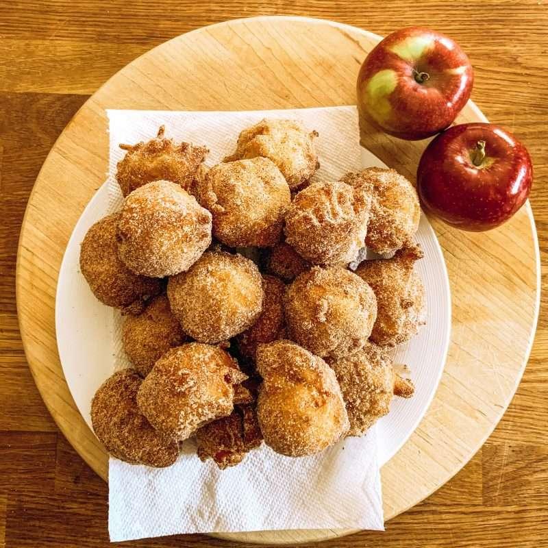 Ricotta Apple Donut Holes