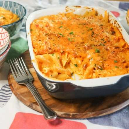 20210225 225243510 iOS baked mac and cheese 20-Minute, Easy Feta, Cheddar and Sweet Potato Pasta