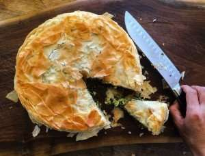 IMG 0254 300x228 1 appetizer {Farm To Table} Spinach + Recipe For Spinach & Cheese Phyllo Pie