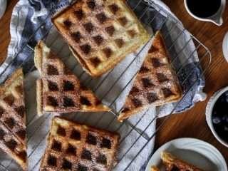 IMG 6429 2 belgium waffles Real Belgian Waffles With Banana Bourbon Syrup + Recipe Video