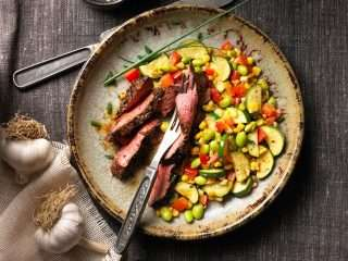 Southwestern Beef Steak with Succotash Saute Canada Beef's Taste and Terroir Event + Tips & Recipe